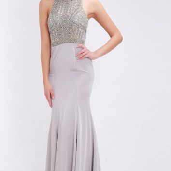Stunning Beading Evening Dresses Sexy Halter Backless Fall New Elegant Floor-Length Long Women Dresses