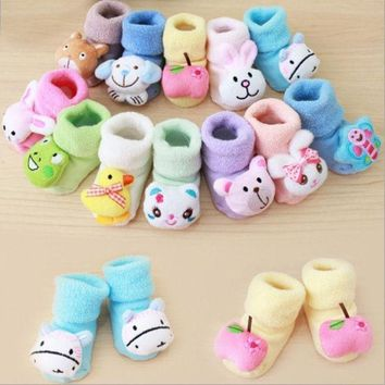 Newborn Baby Boy Girl Anti Slip Shoes Animal Cartoon Slippers Boots Socks = 1946649476