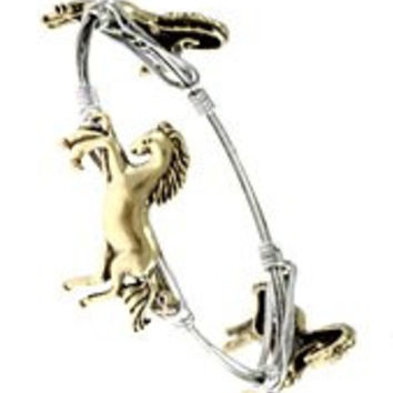 Womens Jewelry, Western Theme Horse, Gold Tone Metal Bangle Western Theme Horse Gold Tone Metal Bangle - Materials: Metal - Length: Diameter: 2.5 Inch