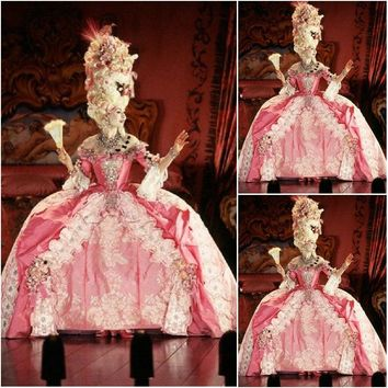 Quality Victorian Rococo Marie Antoinette Dress