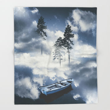 Forest sailing Throw Blanket by happymelvin
