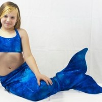 Mermaid Swim Tail: Cute Tail (Blue light & shadow, Small)