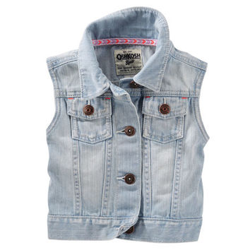 Denim Vest - Blue Ice Wash