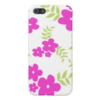 Flowers and leaves - iPhone case
