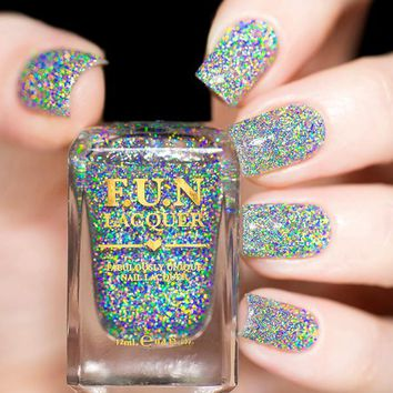 Fun Lacquer Diamond Flake Nail Polish (Holo Topper Collection)