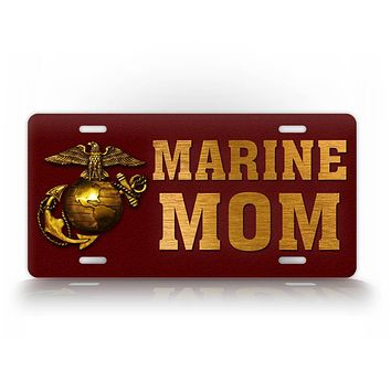 Americana Marine Mom USMC License Plate