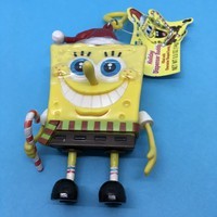 SpongeBob SquarePants Holiday Unopened Candy Dispenser Buddy with Plastic Keychain Nickelodeon c. 2010