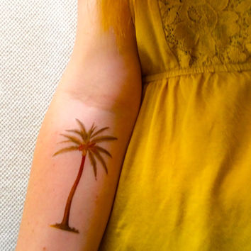 2 Palm Tree Temporary Tattoos- SmashTat
