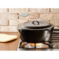 Lodge 7 Quart Cast Iron Dutch Oven With Iron Cover L10DO3 - Walmart.com