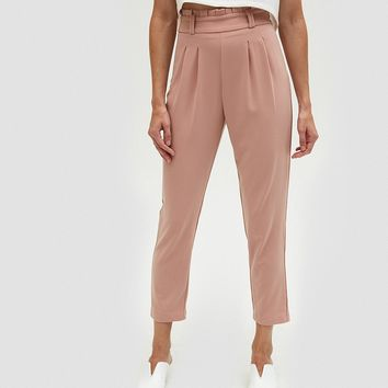 Farrow / High Rise Trouser in Pale Pink