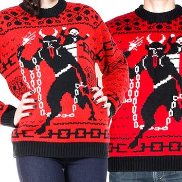 Krampus the Christmas Devil Sweater | Blame Betty