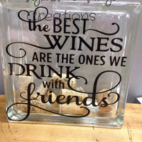 DIY Glass Block Decal - The Best Wines