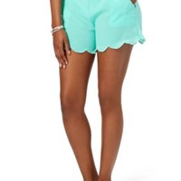 Scalloped Woven Short