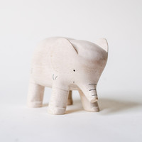 T-Lab POLÉPOLÉ Handcarved Wood Elephant