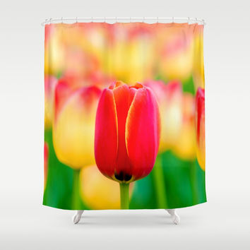 Gentleman In Red Shower Curtain by digital2real