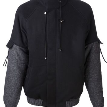 Rochambeau drawstring collar jacket