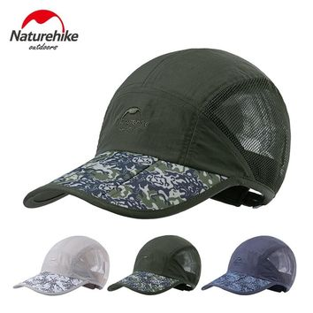 Naturehike Women Men Foldable Breathable Tactical Hat Summer Ultralight UV Outdoor Sports Hiking Camping Fishing Camo Cap VK075