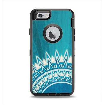 The Blue Spiked Orb Pattern V3 Apple iPhone 6 Otterbox Defender Case Skin Set