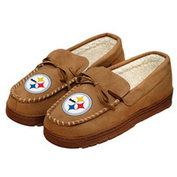 Pittsburgh Steelers Official NFL Mens Moccasin Slippers