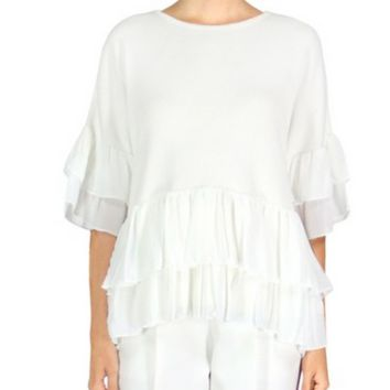 Layered Ruffle Top by English Factory