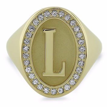 Personalized Initial Signet Ring