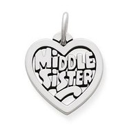 """Middle Sister"" Heart Charm 
