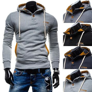 Hats Men Slim Long Sleeve Casual Strong Character Hoodies [10669398723]