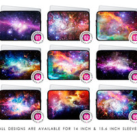 14 & 15.6 inch neoprene laptop sleeve Nebula galaxy galactic cosmic space ombre swag case cover