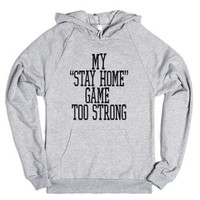 Stay Home Game-Unisex Heather Grey Hoodie