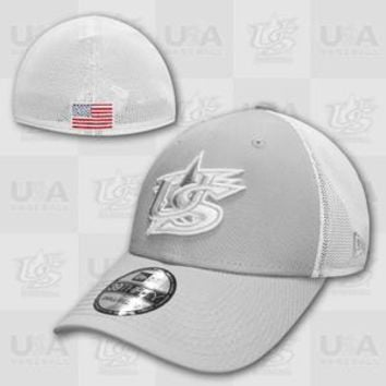 USA Baseball 39THIRTY Spi Stretch Cap - Grey/White
