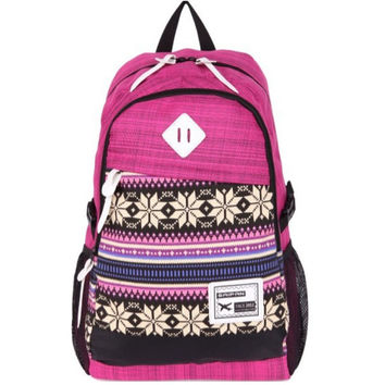 Unisex Rose Laptop Backpack School Bookbag Travel Bag Daypack