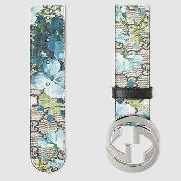 Gucci GG Blooms belt with G buckle
