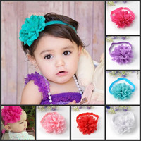 6Pcs Kids Girl Baby Candy Color Headband Toddler Lace Bow Flower Hair Band Accessories Headwear (Size: 32cm by 1.5cm, Color: Multicolor) = 1958169284