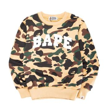 spbest A Bathing Ape Swarovski Camo Crewneck Sweat