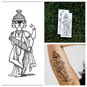 Indian God - temporary tattoo (Set of 2)