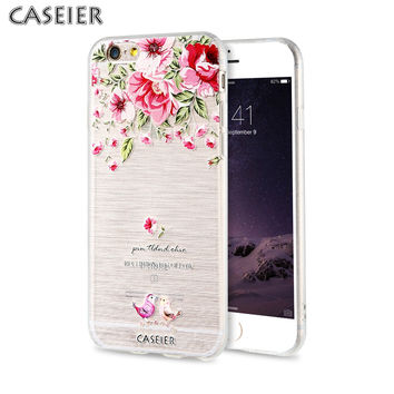 CASEIER for Apple iPhone 6 6S 7 Plus 5s SE Case Silicone Soft TPU Art Printing Luxury Cover for iPhone 7 Plus Accessories
