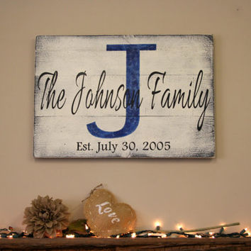 Custom Name Sign Personalized Name Sign Wood Pallet Sign Distressed Wood Sign Personalized Wedding Gift Bridal Shower Gift Housewarming Gift