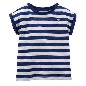 Carter's Stripe Tee - Toddler Girl, Size: