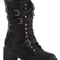 ModCloth Steampunk Scenic Thrive Boot in Jet Black