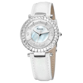 Watch women leather belt Rhinestone crystal ladies quartz-watch montre femme Ana