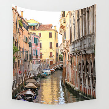Venice Wall Tapestry - Italy Photography - Venice Tapestry - Colorful Canal Venice - Wall Decor - Venice Wall Art - Italy Wall Art - Venice
