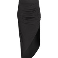 H&M - Asymmetric Skirt - Black - Ladies