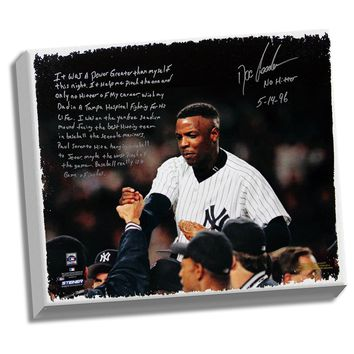Doc Gooden Facsimile Yankees No-Hitter Stretched 22x26 Story Canvas