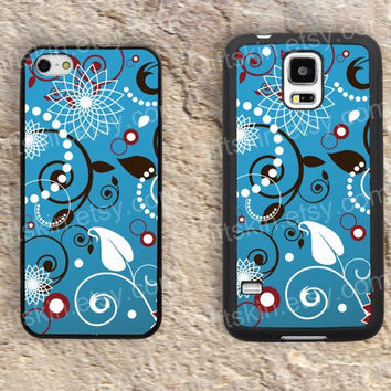 Blue classic design patterns iphone 4 4s iphone  5 5s iphone 5c case samsung galaxy s3 s4 case s5 galaxy note2 note3 case cover skin 153