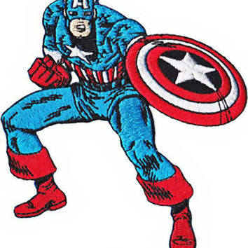 Captain America Iron-On Patch Figure