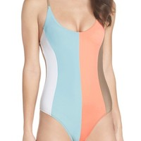 PilyQ Farrah Stripe One-Piece Swimsuit | Nordstrom