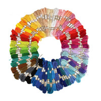 50Pcs 100Pcs Random Color Cross Stitch Cotton Embroidery Thread Floss Sewing Skeins Craft E2shopping(Random COlor ONLY )