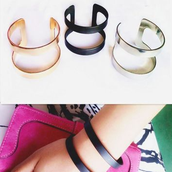 Double Layer Geometric Cuff Bracelet