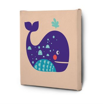 Cute Animals Pictures Canvas Wall Art Decal Painting Prints Whale