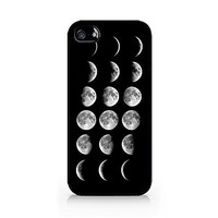 Moon Phases - Lunar Phases - Hipster Moon Phases - iPhone 4/4S Black Case:Amazon:Cell Phones & Accessories